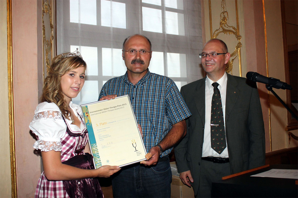 9. Internationaler Müller-Thurgau-Preis 2013